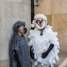 Acción callejera del Festival Trashumantes