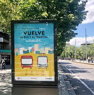 Campaña Tu Nueva Movilidad post-covid en Zaragoza